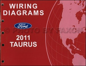 2011 Ford Taurus Wiring Diagram Manual Electrical Schematics SHO SE SEL Limited