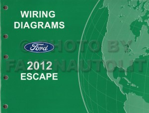 2012 Ford Escape Gas Wiring Diagram Manual Original