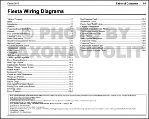 2012 Ford Fiesta Wiring Diagram Manual Original