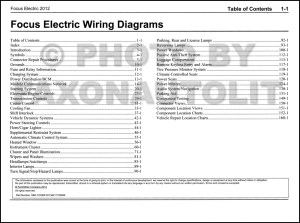 2012 Ford Focus Electric Wiring Diagram Manual Original