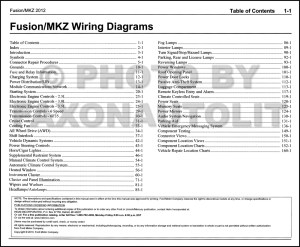 2012 Ford Fusion Lincoln MKZ Wiring Diagram Manual Original