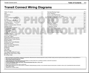 2012 Ford Transit Connect Wiring Diagram Manual Original