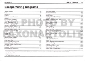 2013 Ford Escape Wiring Diagram Manual Original