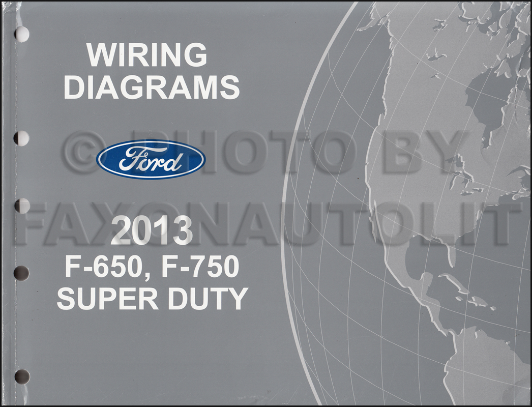 2013-2014 Ford F-650 And F-750 Super Duty Truck Wiring