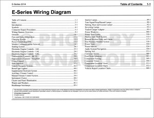 2014 Ford Econoline Wiring Diagram Manual Original Van