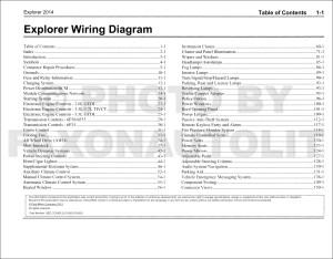2014 Ford Explorer Wiring Diagram Manual Original