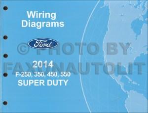 2014 Ford F250 thru 550 Super Duty Wiring Diagram Manual