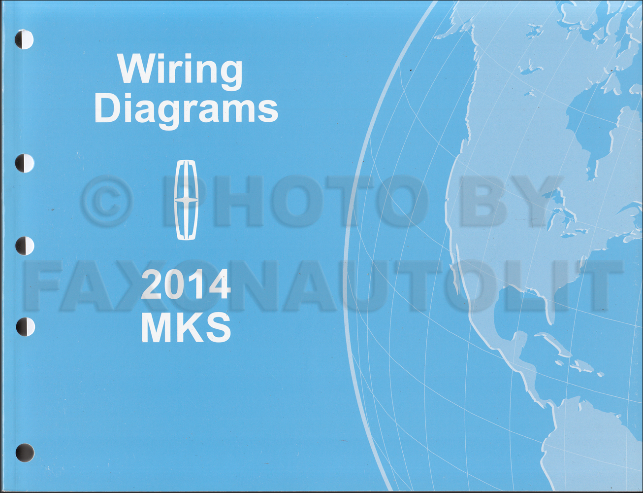 2014 Lincoln MKS Wiring Diagram Manual Original