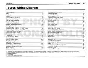 2015 Ford Taurus Wiring Diagram Manual Original