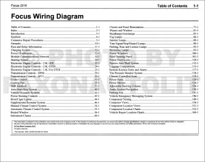 2016 Ford Focus Wiring Diagram Manual Original