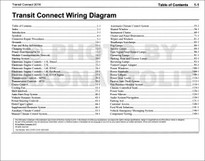 2016 Ford Transit Connect Wiring Diagram Manual Original