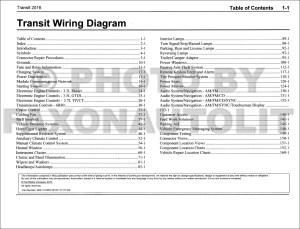 2016 Ford Transit Wiring Diagram Manual Original