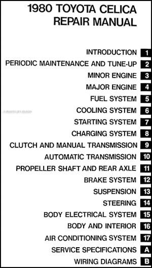 1980 Toyota Celica Repair Shop Manual Original No 98388 (20R)