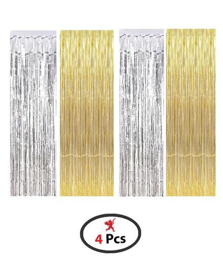 party propz foil curtain birthday decoration pack of 4 gold silver online in india buy at best price from firstcry com 2227304