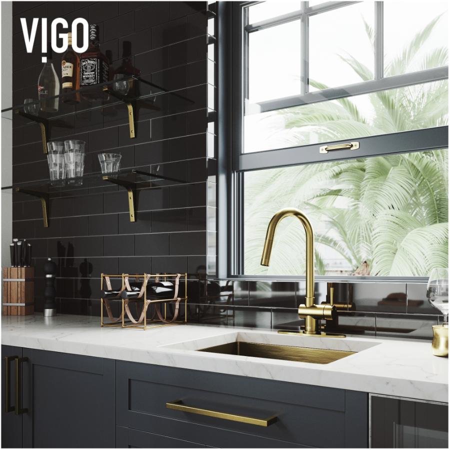 vigo gramercy pull down kitchen faucet