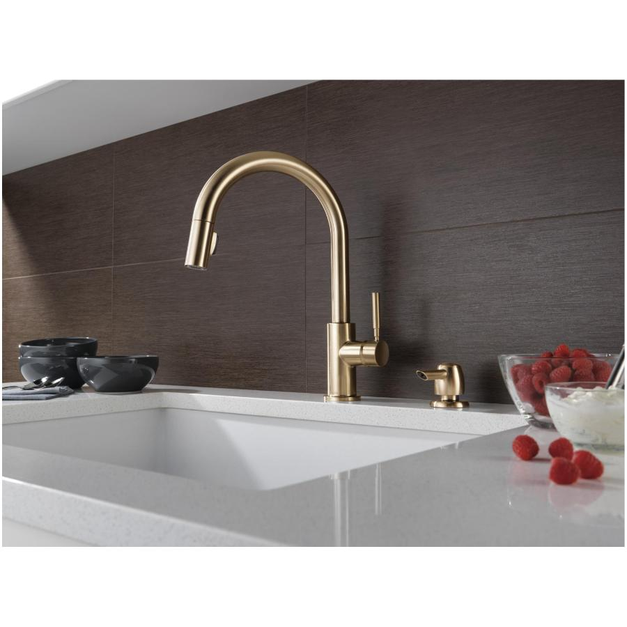 delta faucet trask pull down single