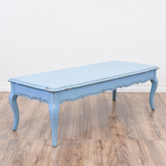 blue french provincial shabby chic coffee table loveseat com san diego