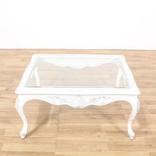 shabby chic white square coffee table loveseat com los angeles