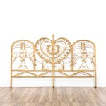 Bohemian Wicker Rattan Peacock King Headboard Loveseat Online Auctions San Diego