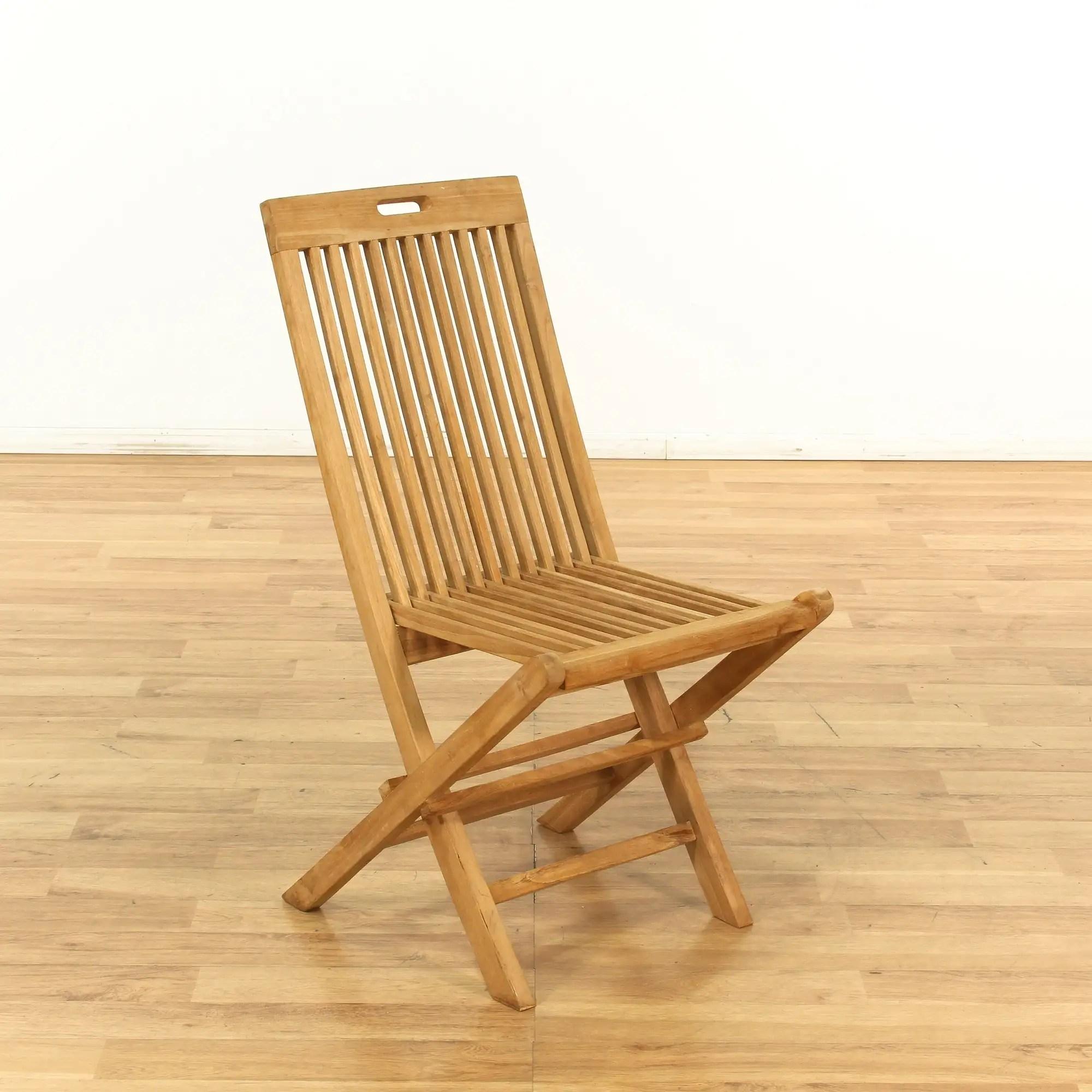 folding light wood patio chair 1