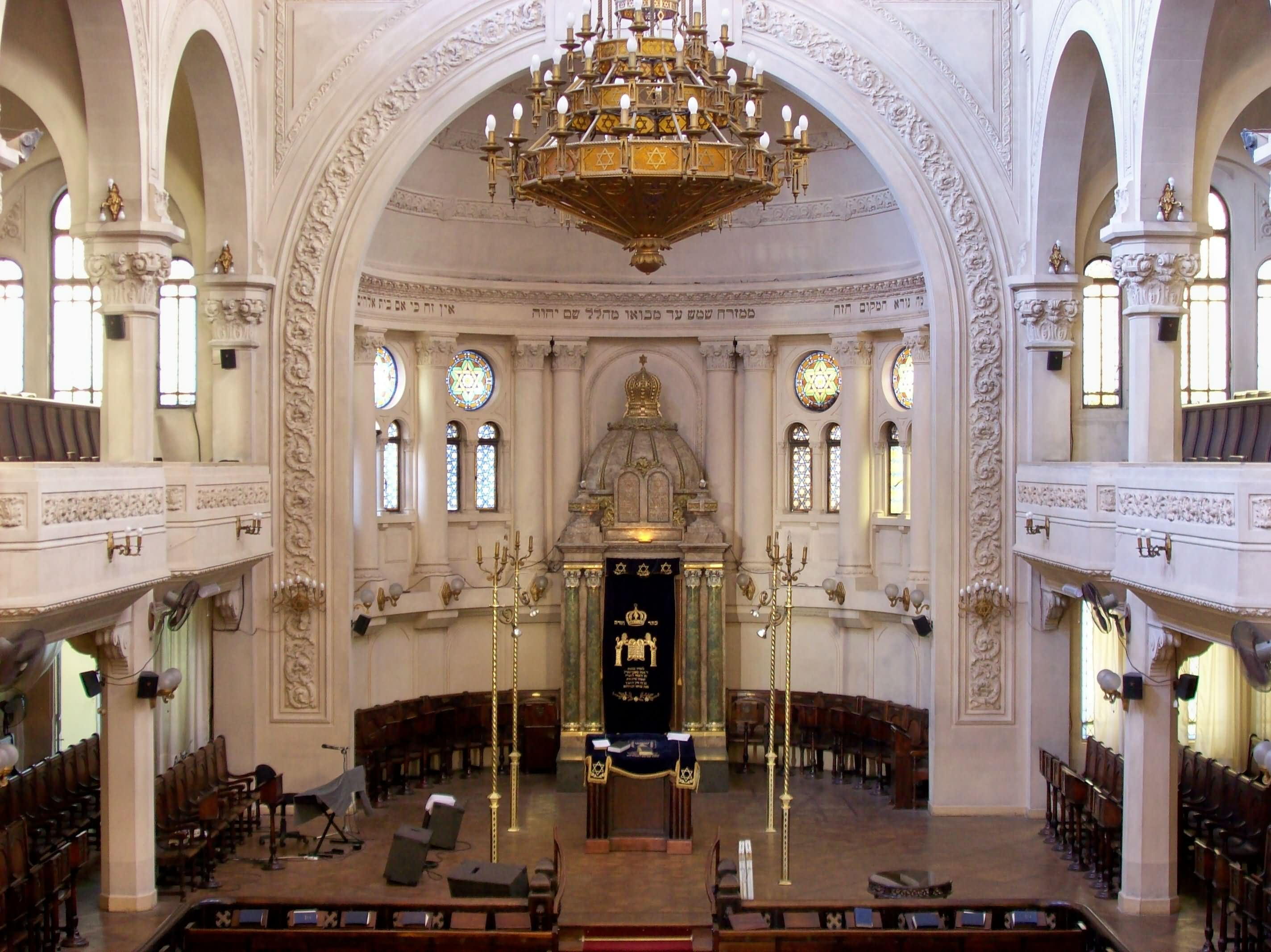 View Of The Interior Of The Synagogue Buenos Aires