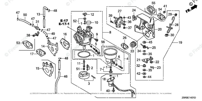 Honda Engines Engine Gx Oem Parts