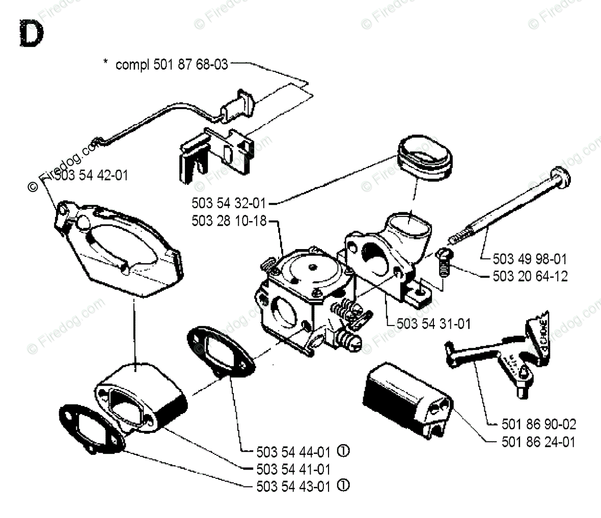 Husqvarna Chain Saw 262 03 Oem Parts Diagram For