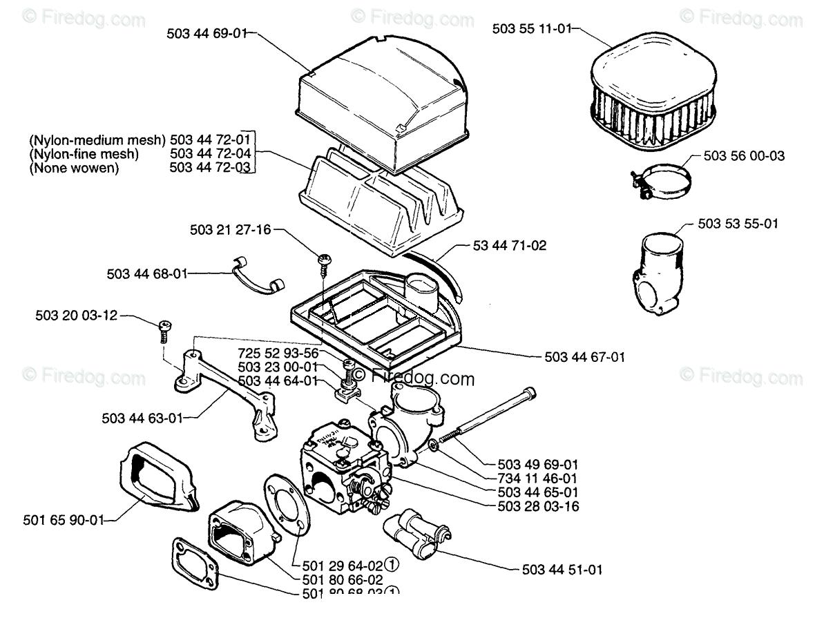 Husqvarna Chain Saw 272 Xp 01 Oem Parts Diagram For