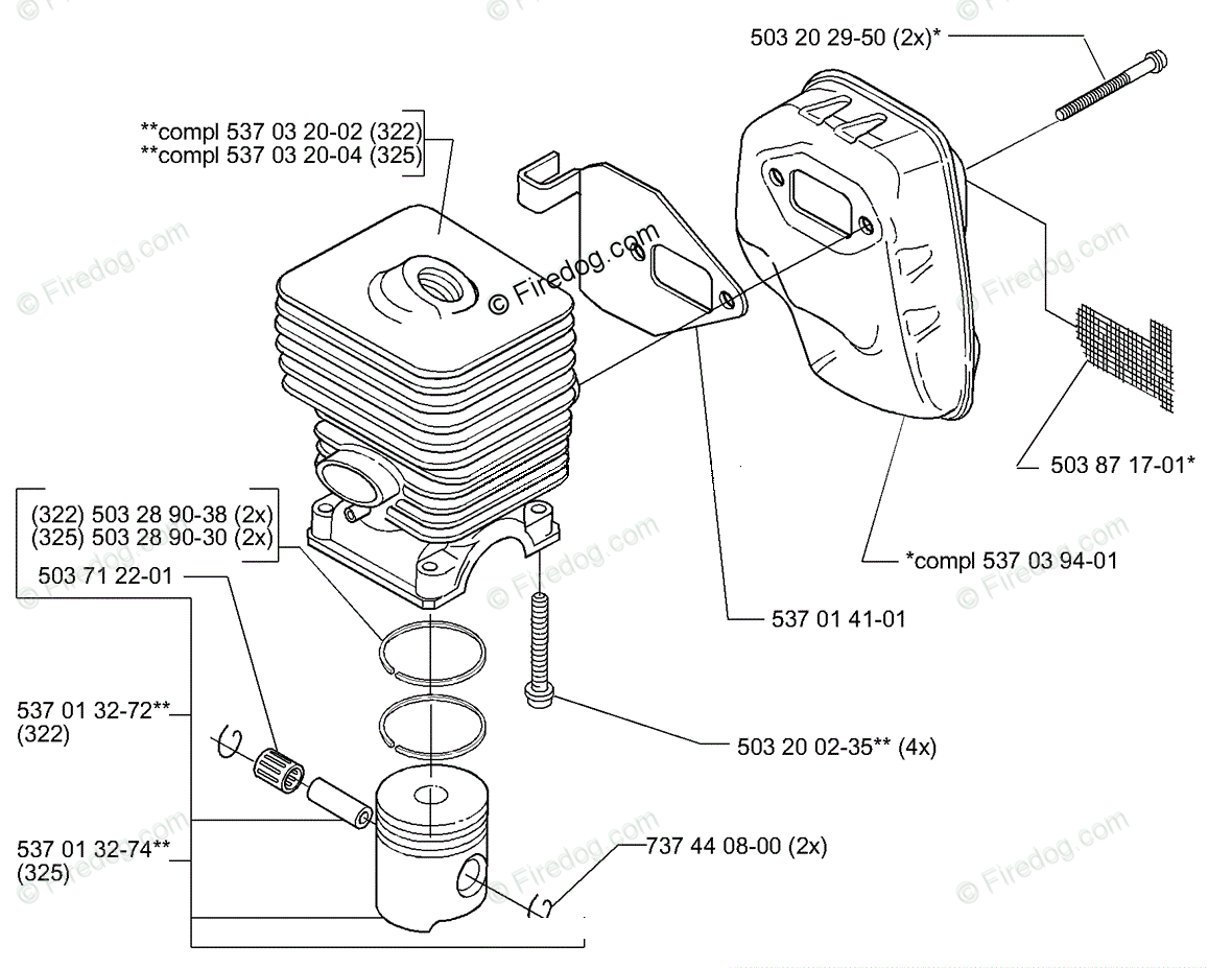Husqvarna Line Trimmer 325 Rjx 01 Oem Parts Diagram