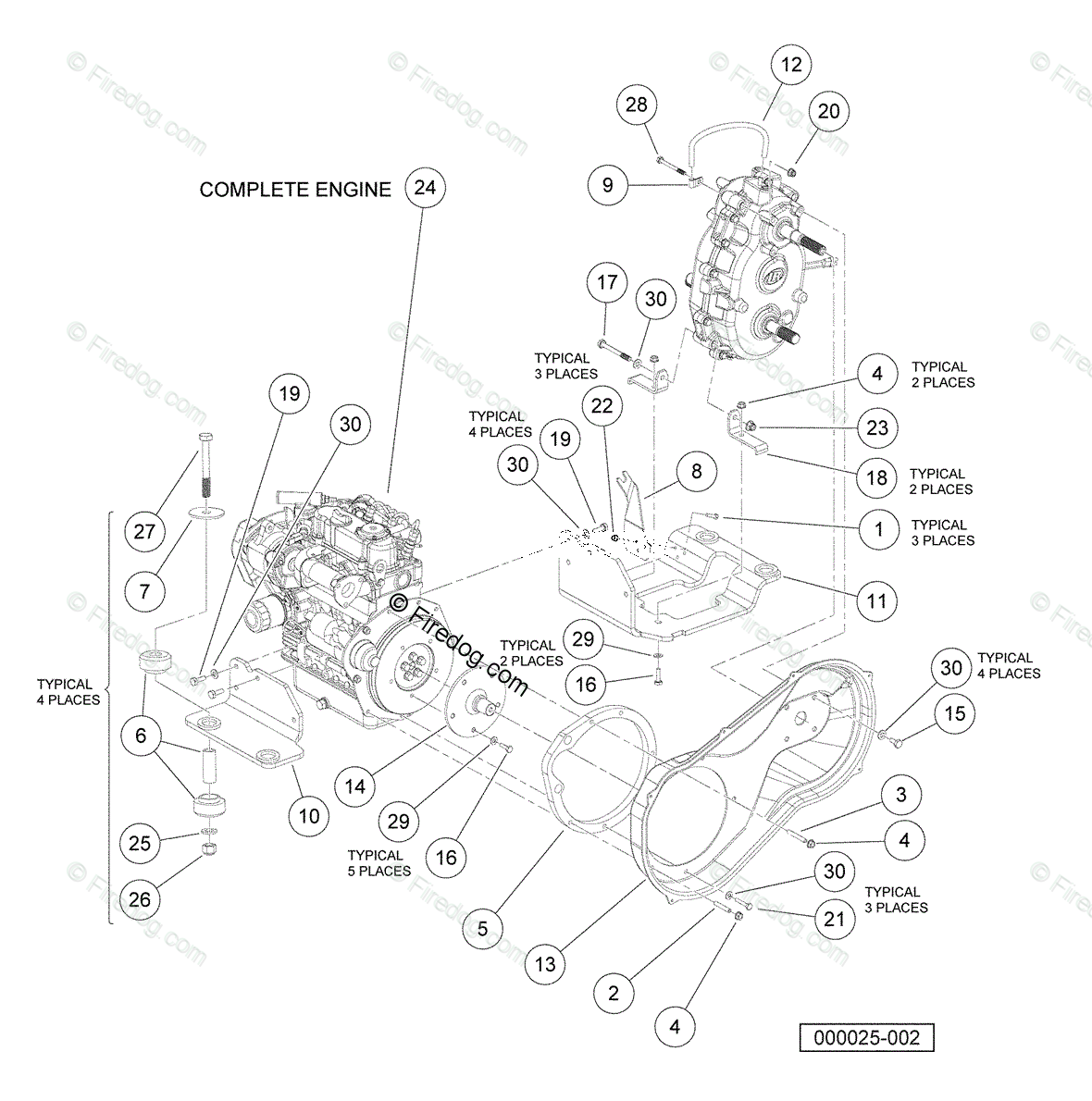 Parts Manual For Kubota D722