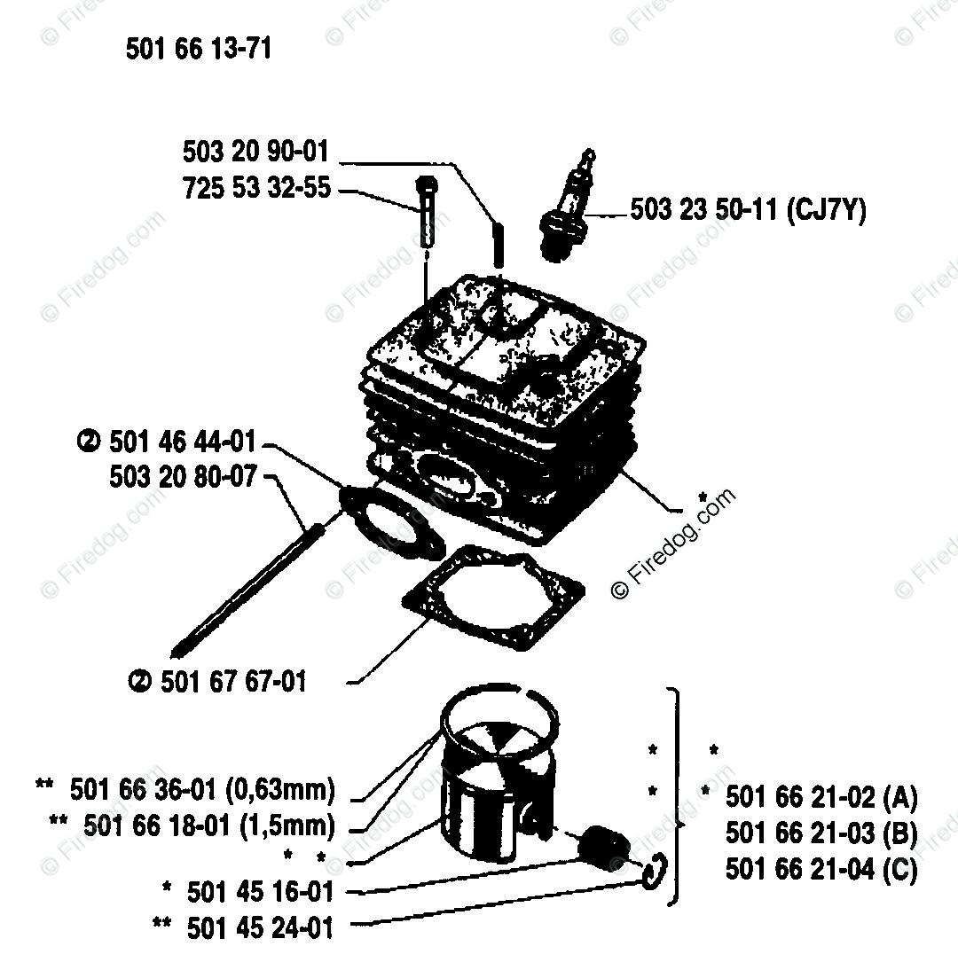 Husqvarna Chain Saw 444 01 Oem Parts Diagram For