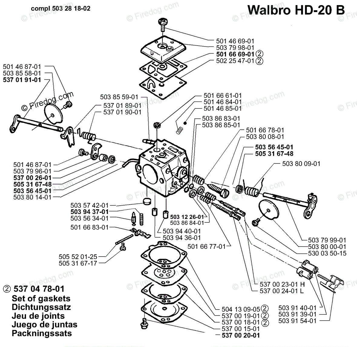 Husqvarna Power Cutter 371 K Epa 04 Oem Parts