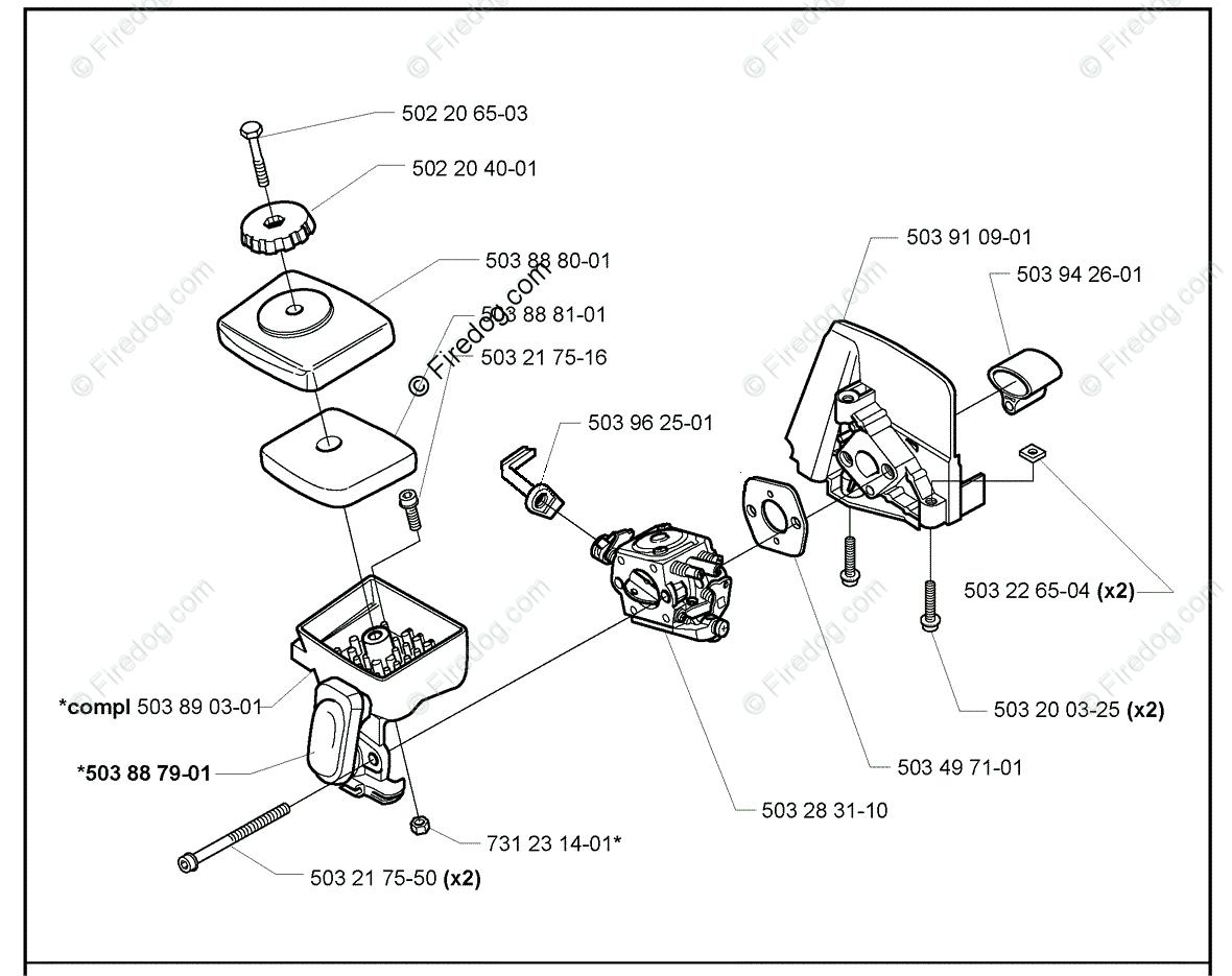 Husqvarna Trimmer 325 L 10 Oem Parts Diagram For