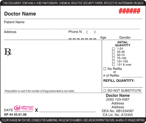 Rx Pad Template Photo Template Pennsylvania Prescription Pad State