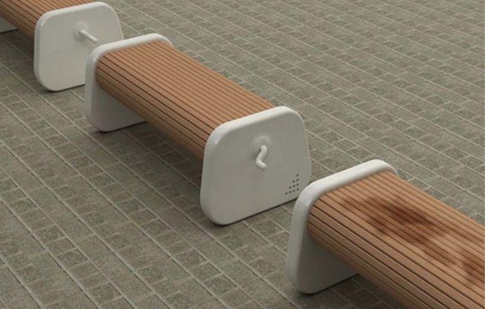 Всегда сухая скамейка – просто поверните ручку после дождя дизайн, идея, креатив