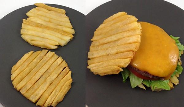 3. Гамбургер с картофельной булочкой еда, своими руками, сделай сам