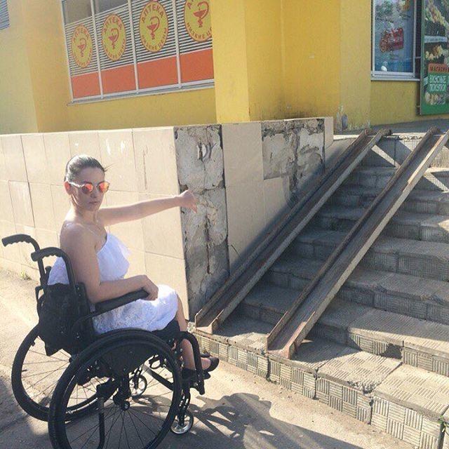 В Тольятти доступная среда, инвалиды, пандус, пандусы