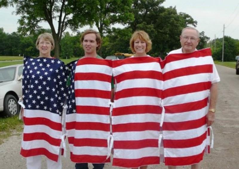 Костюмчик для групповых выражений патриотизма. патриоты, прикол, сша, юмор