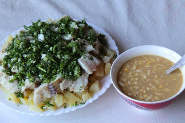 Треска по-польски еда, кухня, рыбные блюда
