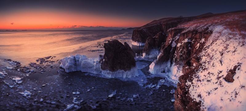 Приморский край, Хасанский район Средняя температура: −9°C −15°C зима, красота России