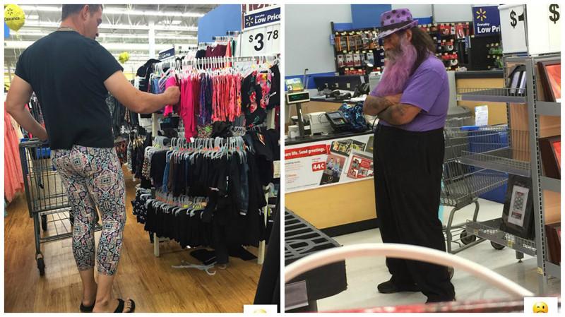 Самые колоритные персонажи в американских супермаркетах америка, люди, супермаркет