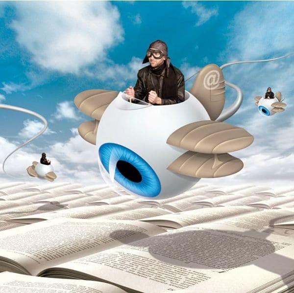 2. Веб-серфинг иллюстрация, общество, порок, сюрреализм