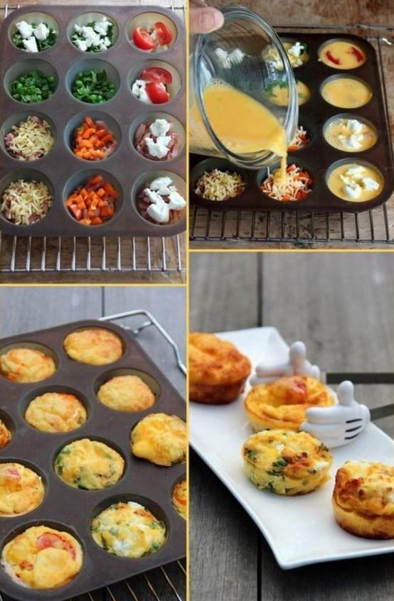Можно еще проще - разложили овощи или мяско и залили омлетом Просто, вкусно, еда, завтраки