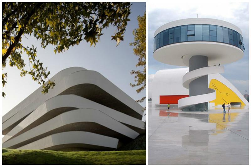Центр кулинарных искусств Басконии в Гипускоа и культурный центр Оскара Нимейера в Авилесе архитектура, интересное, испания