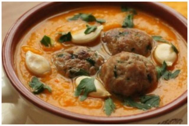 Тыквенный суп-пюре с фрикадельками вкусно, интересное, рецепты, супы