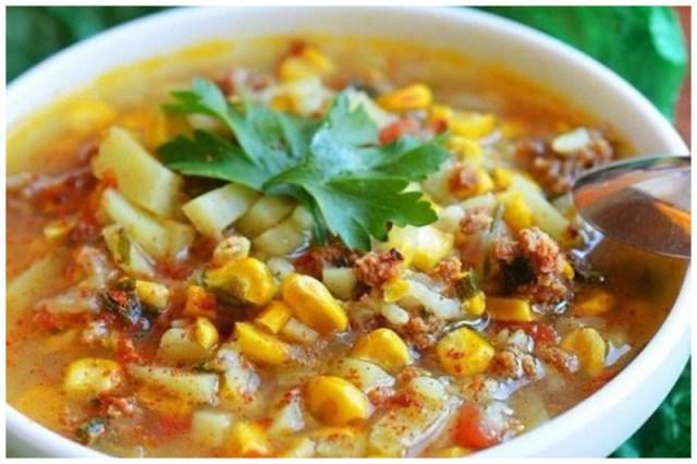 Арабский суп с кукурузой вкусно, интересное, рецепты, супы