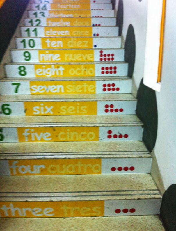 Лестницы с числами гениально, изобретения, подборка, студенты, школа