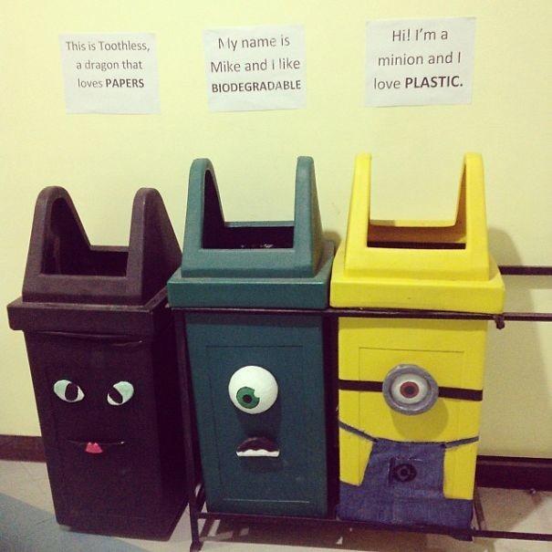 Как распоряжаться мусором правильно и креативно: 1)