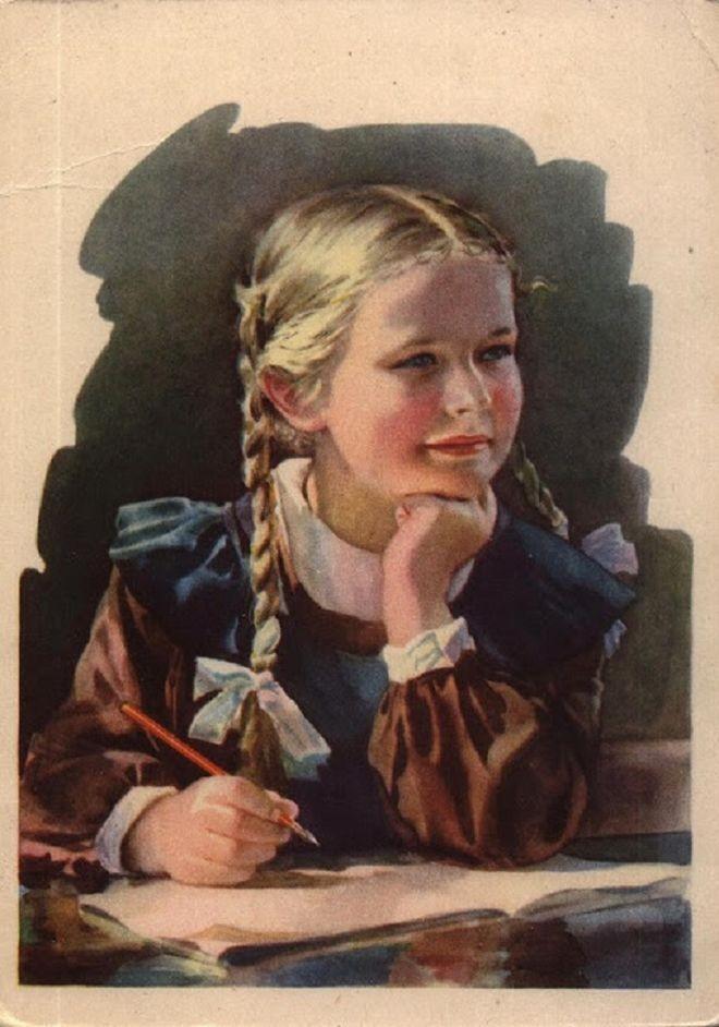Внучка нашла у бабушки на заваленном чердаке папку. Открыв ее, она воскликнула от изумления СССР, Учёба, бабушка, дети, ностальгия, школа
