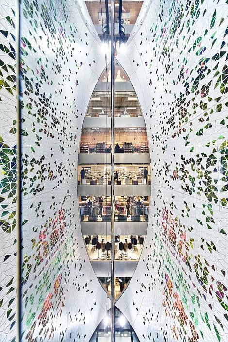 Универмаг Printemps, Париж архитектура, дома, здания будущего, красота, необычно, проекты, строения, творчество